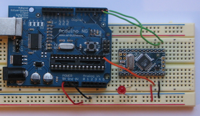 Burning arduino bootloader without external avr writer