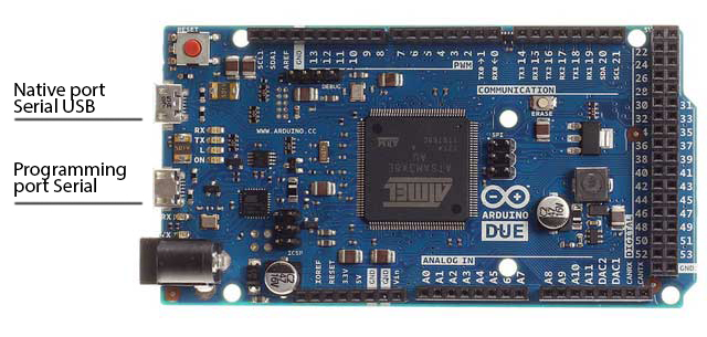 Arduino due everything esp