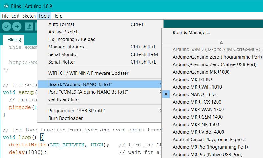 Arduino - NANO33IoT