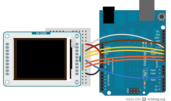 arduino tfttoboards rh arduino cc arduino tft display wiring Arduino TFT LCD SD Card