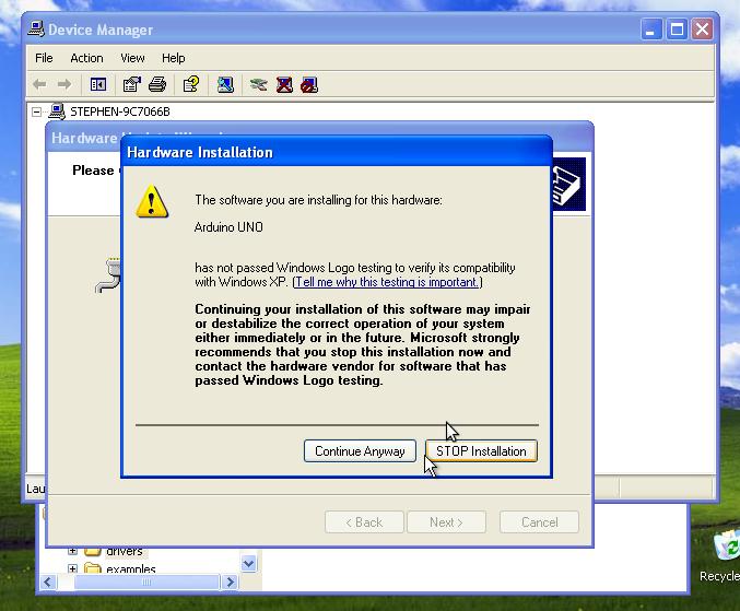 Arduino Uno Driver Windows 8