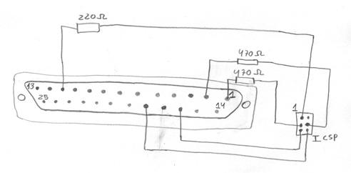 arduino parallelprogrammer Parallel Port Schematic parallel port programmer