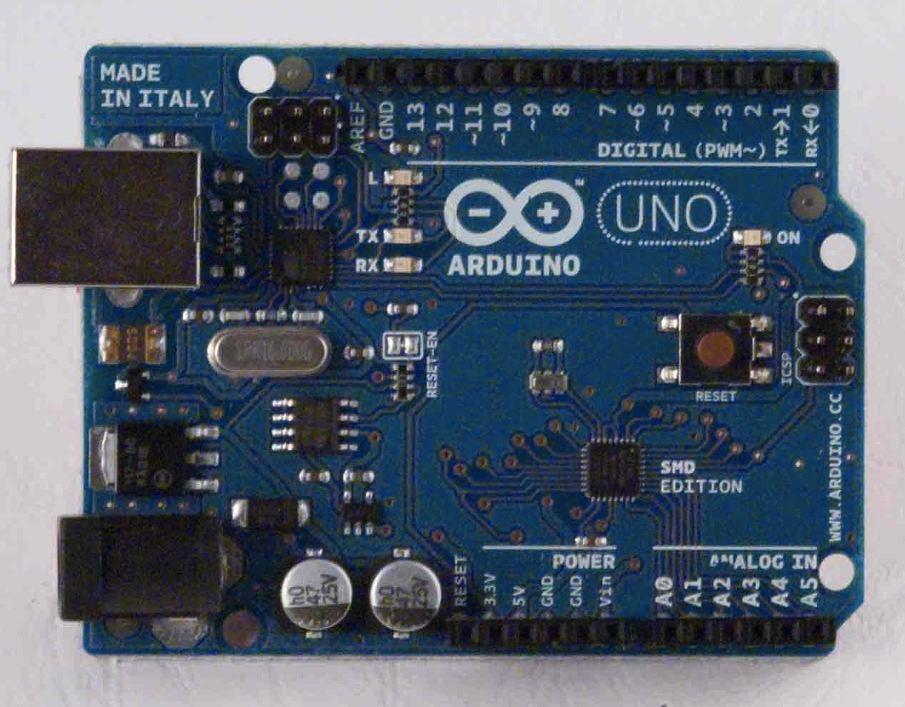 Arduino Arduinoboardunosmd Lines Refer To Items Located External The Printed Circuit Board Uno Smd