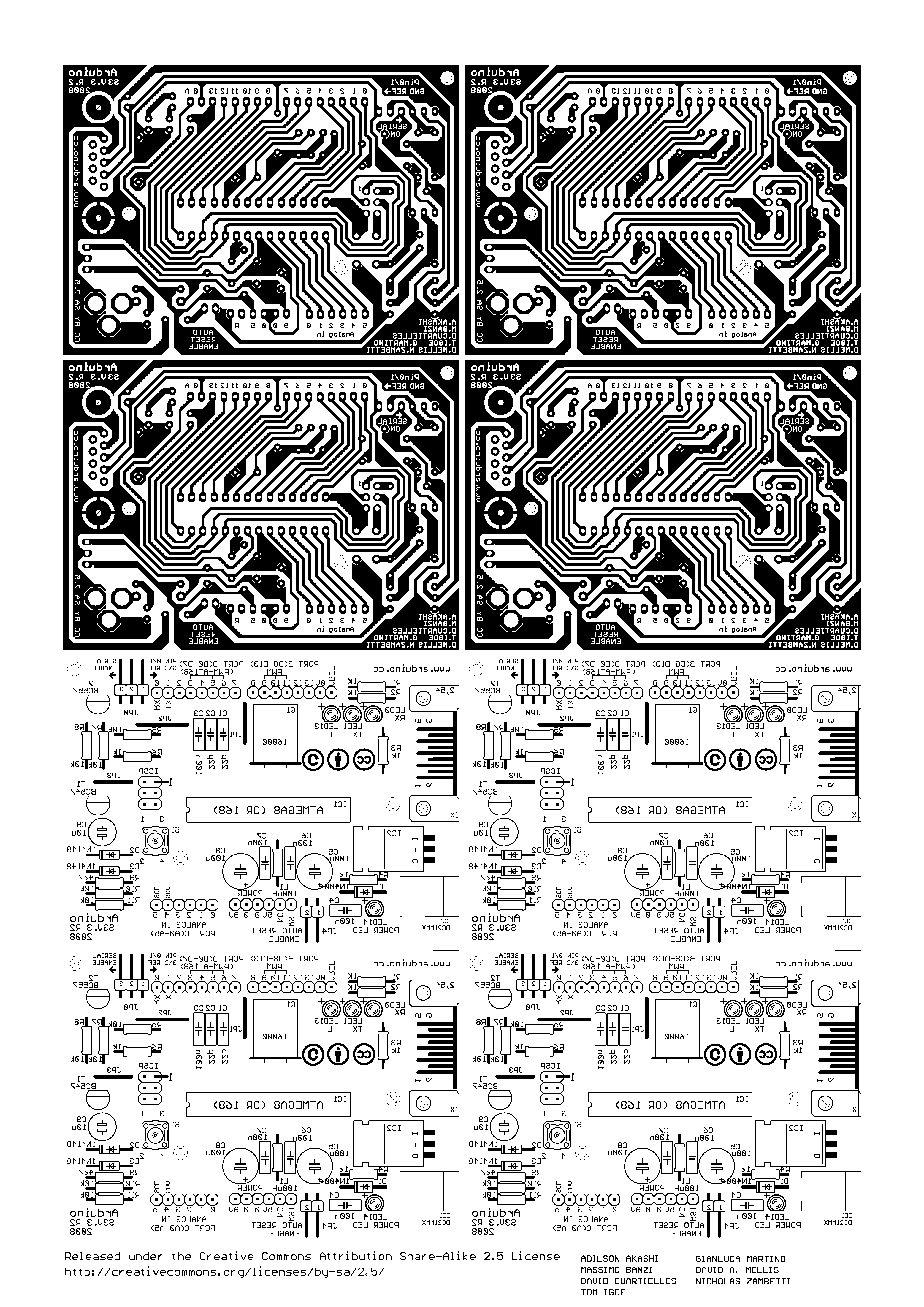 DIY Arduino UNO: Arduino Single-Sided Serial Board (version 3) – UM