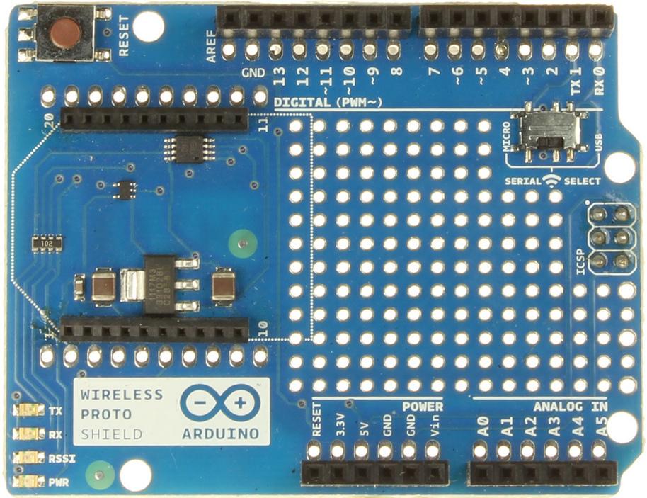 Arduino arduinowirelessprotoshield