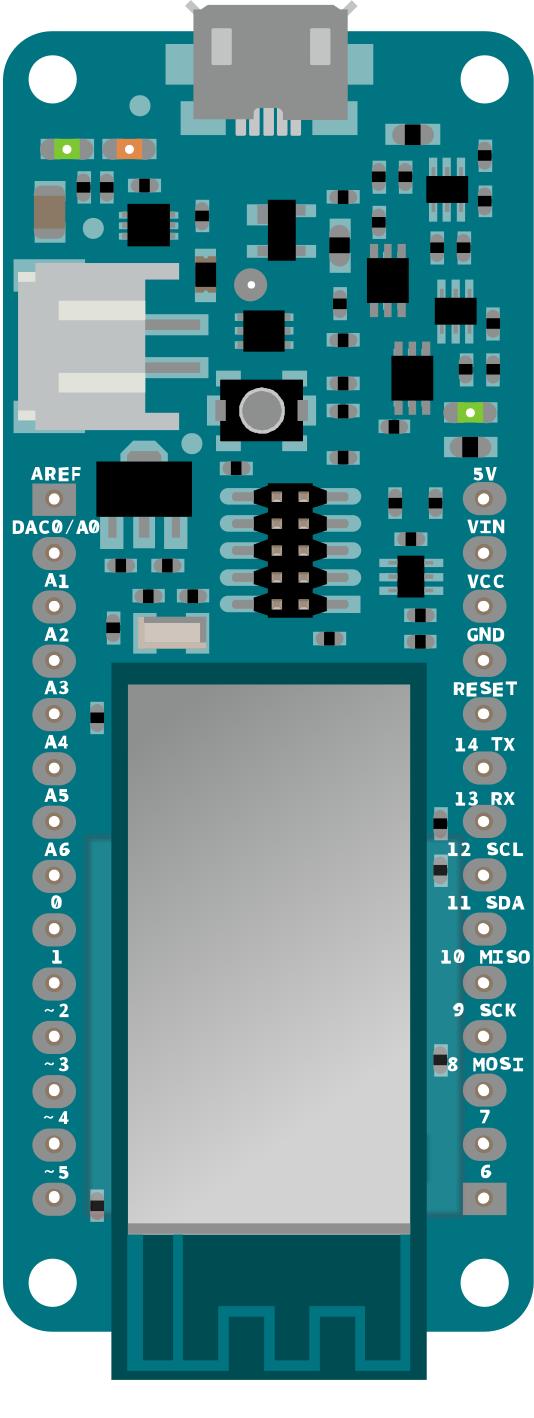 Arduino MKRFOX1200 pinout