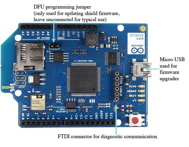 Arduino arduinowifishield