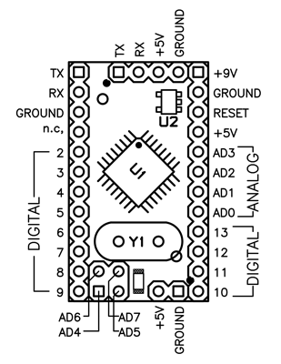 Arduino Mini Schematic