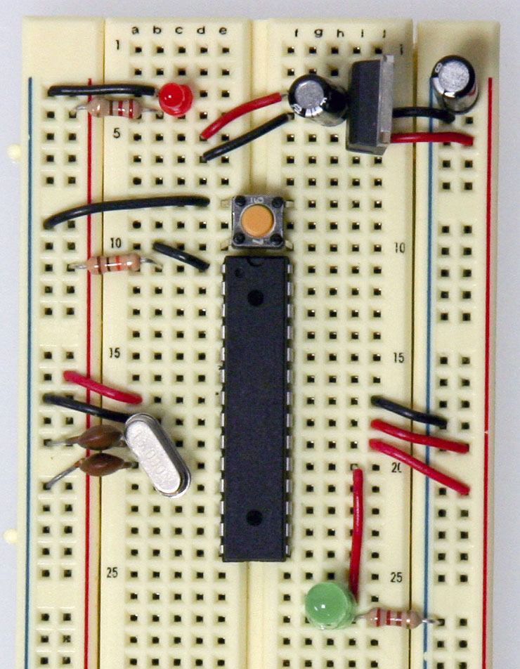 arduino setting up an arduino on a breadboard