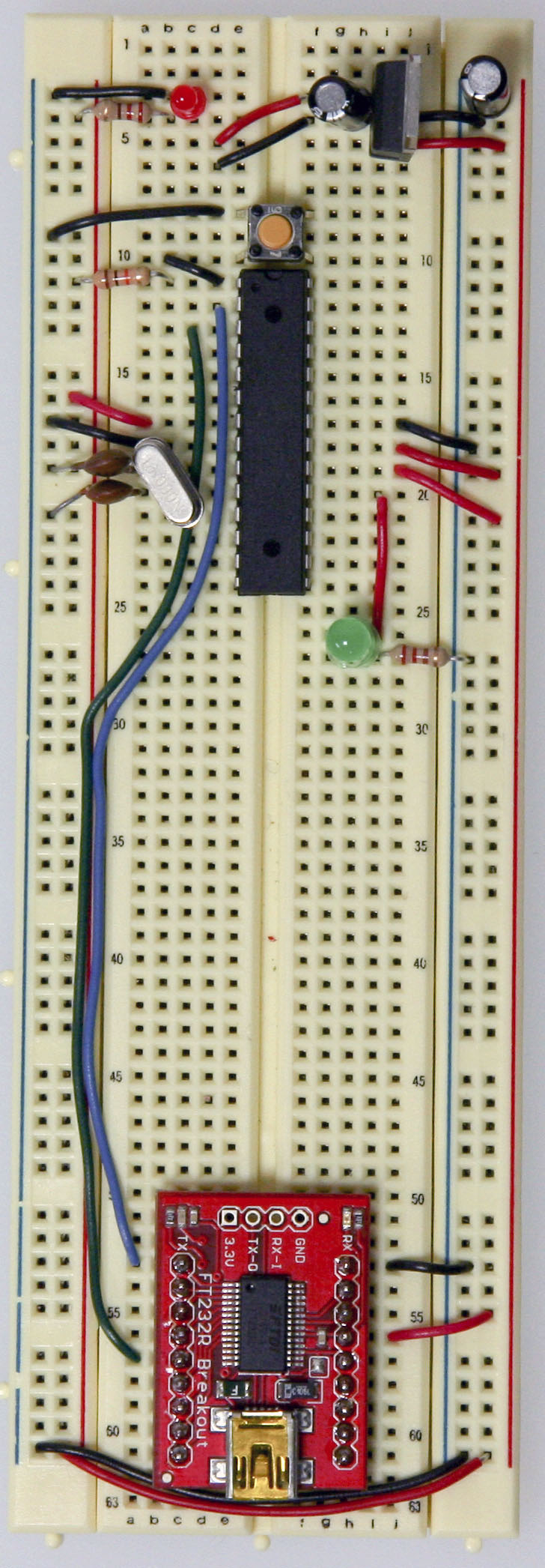 Arduino Setting Up An On A Breadboard Series Parallel Circuit Wiring Harness Diagram Txrx Connecting