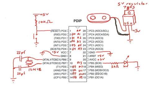 arduino - Wheel encoder using an IR sensor - Electrical
