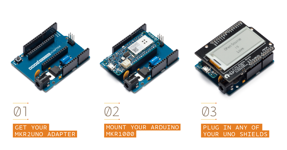 Official arduino mkr uno adapter