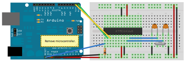 Uploading sketches to an Atmega 328P on a breadboard