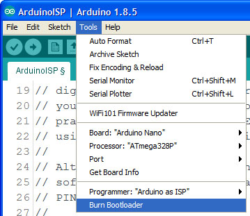 Arduino as programmer
