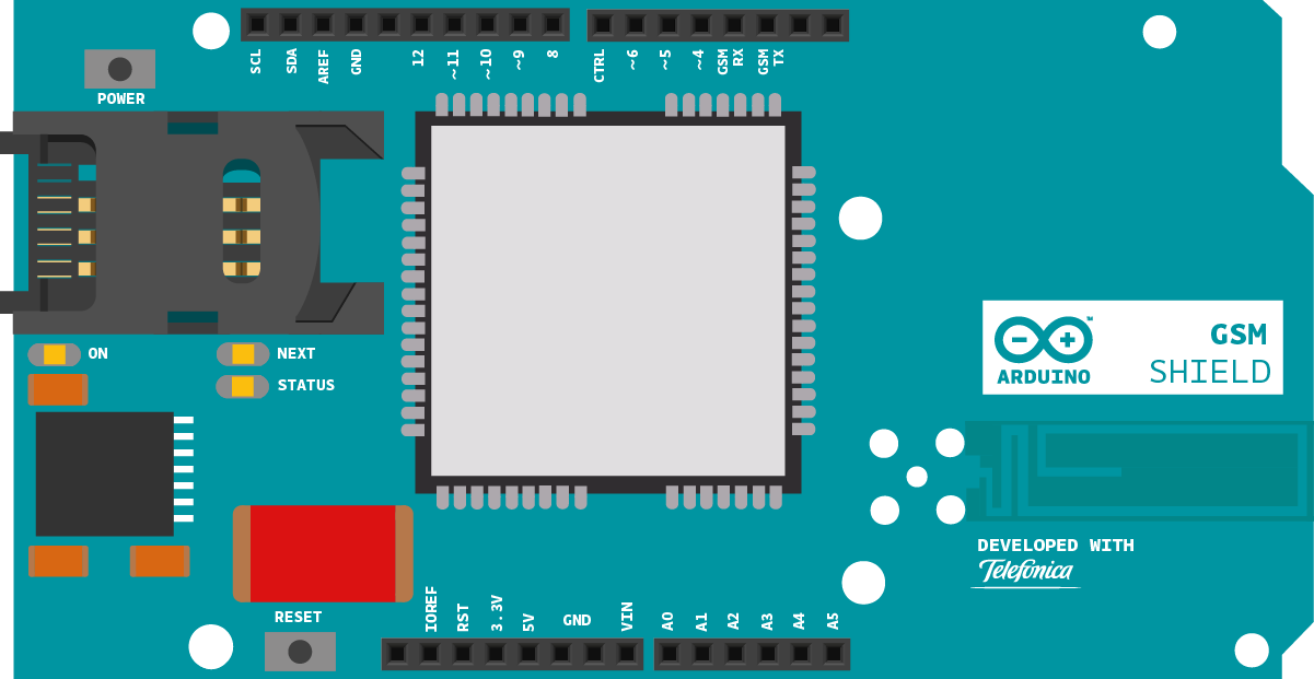 Digital ivision labs receiving sms through arduino gsm