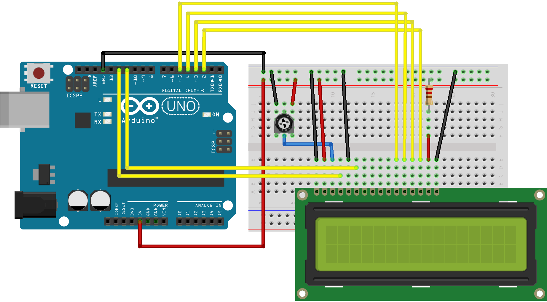 Arduino Liquidcrystalsetcursor For A 10k Potentiometer Wiring Diagrams Circuit
