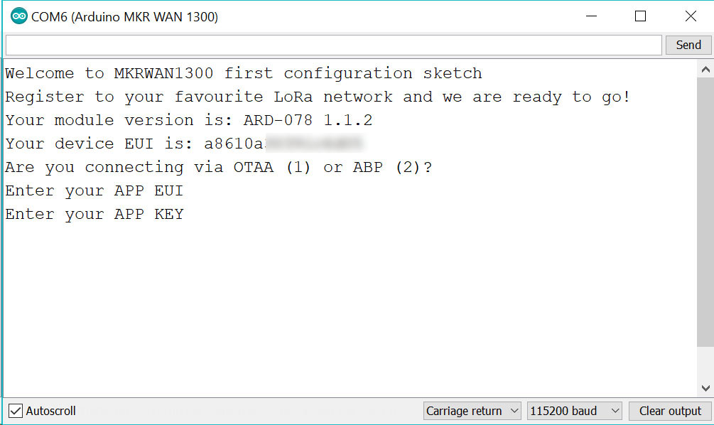 Arduino - MKRWANTTNFirstConfiguration