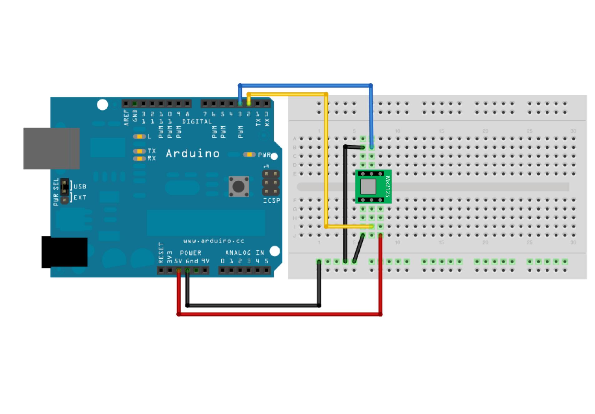 Arduino Memsic2125