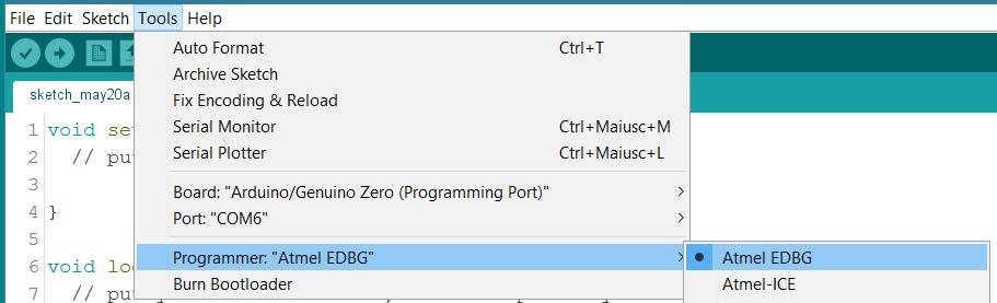 Arduino - ZeroBootloaderUpdate