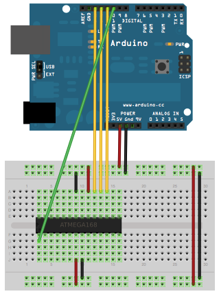 arduino run an atmega only using an mhz crystal out enter image description here