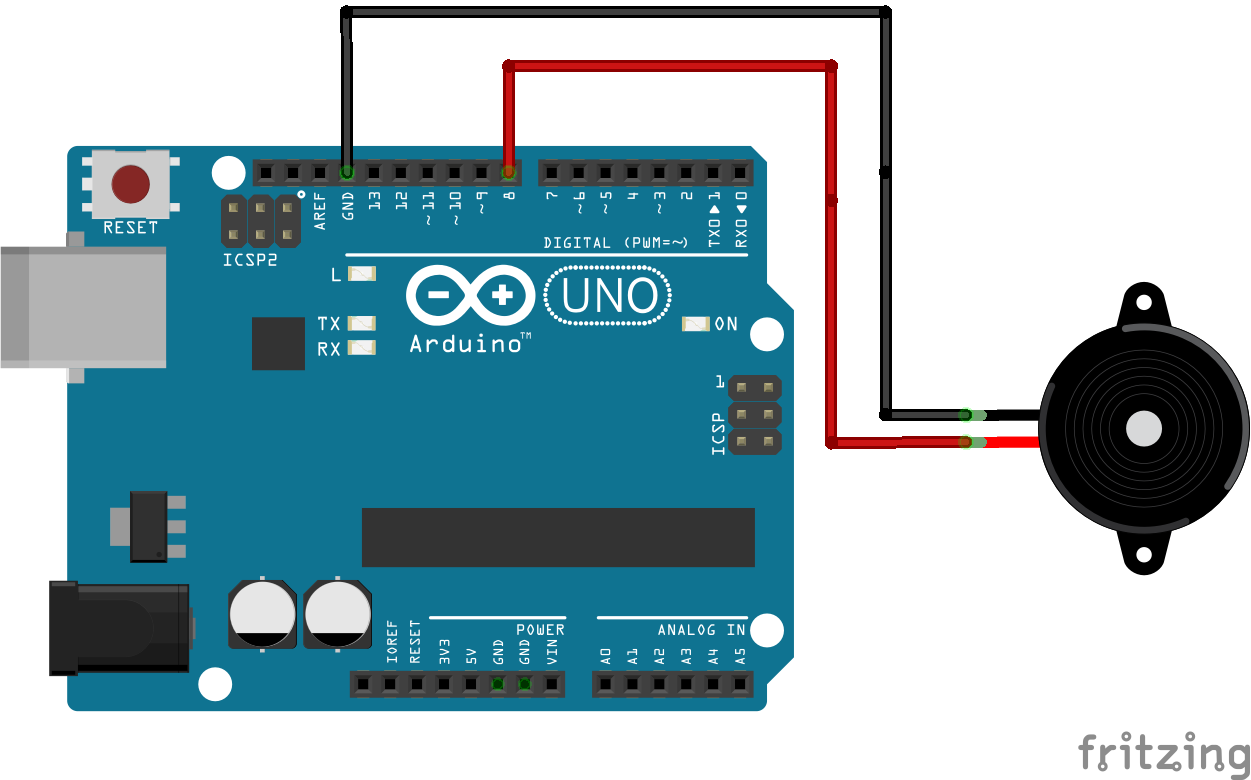 Arduino Tonemelody Circuit Is Modeled On A Schematic The Nodes Are Wires Between