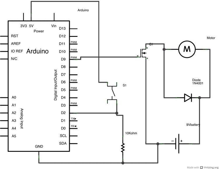 arduino input wiring diagram for power