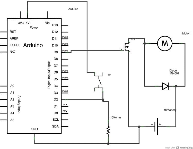 Arduino - TransistorMotorControl
