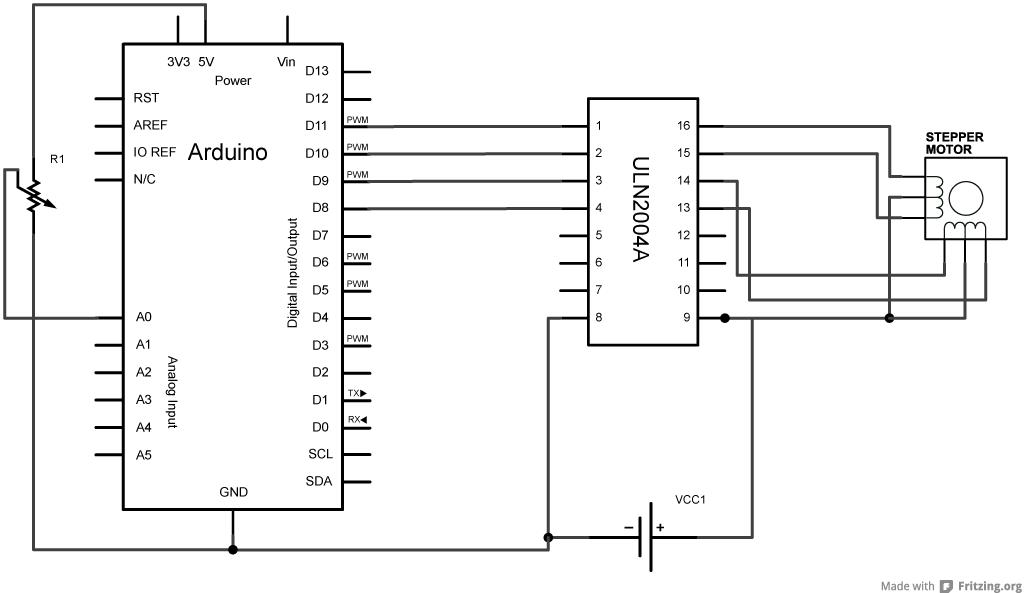 schrittmotorsteuerung uln2004 wird hei u00df