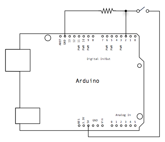 arduino button schematic