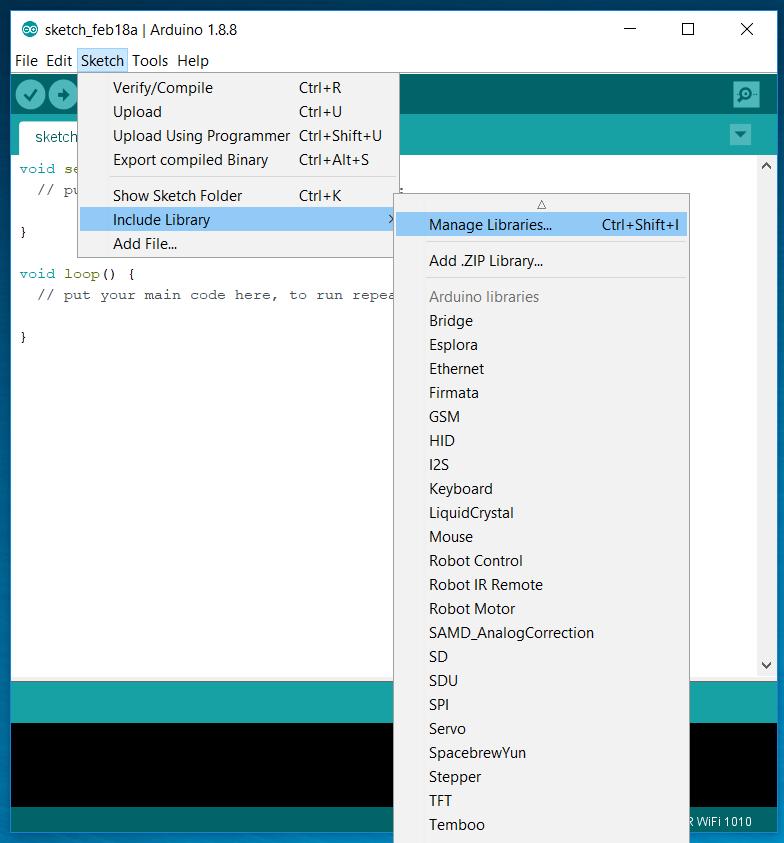 Arduino - WiFiNINA-FirmwareUpdater