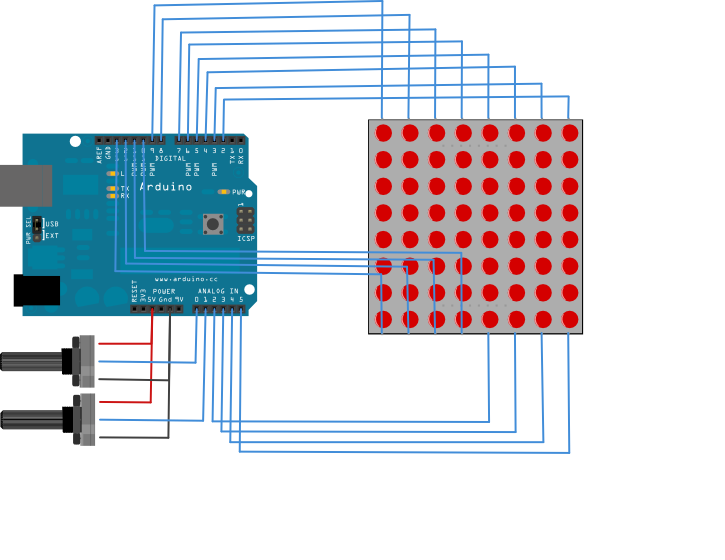 LED Matrix Arduino Shield - Bald Engineer
