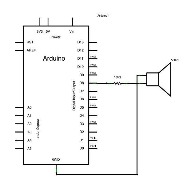 One-transistor audio amplifier for Arduino projects | Bryan