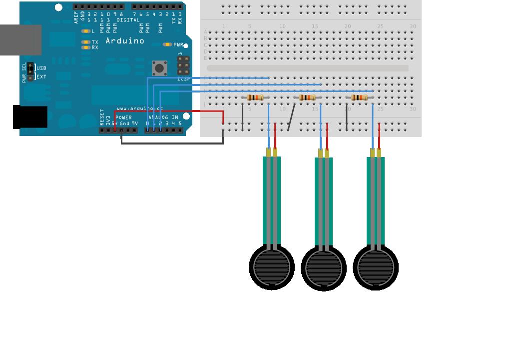 Control a Servo with a Force Resistive Sensor on Arduino