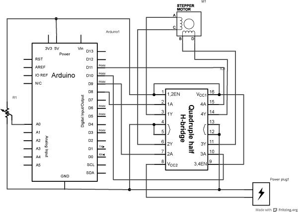 Arduino with using motor stepper Stepper Motor